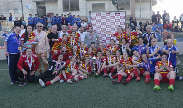 Birkirkara FC BOV Women's League Champions 2018/19. Photos courtesy of Bank of Valletta