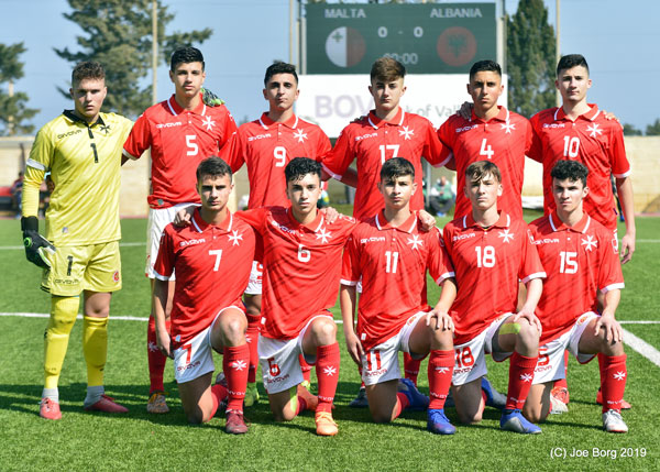 Malta Under-16 vs Albania Under-16 04/03/2019. Photos: Copyright © Joe Borg/MFA