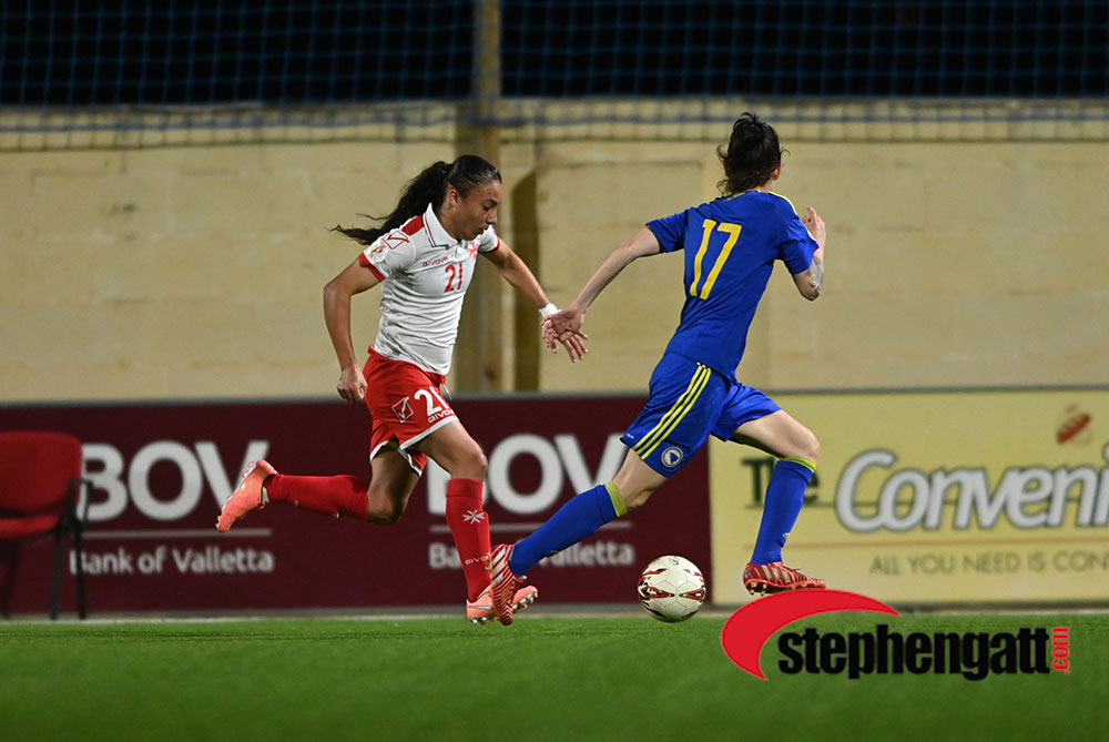 Women's EURO: Malta vs Bosnia-Herzegovina 10/03/2020. Photo: Copyright © www.stephengatt.com