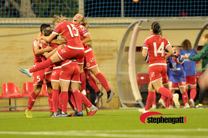 Women's EURO Malta vs Israel 07/11/2019. Photo: Copyright © www.stephengatt.com